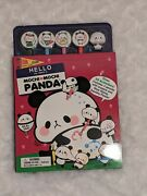 Hello My Name Is Mochi Mochi Panda Activity Book With Pencils And Erasers