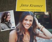 Jana Kramer Autographed Photo And Photos/-real Hot Country