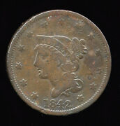 1842 ... F Fine Clear Date ... Large Cent 101-103
