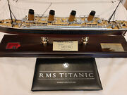 Rms Titanic Ship Model Signature By Millvina Dean - Limited Edition Rare