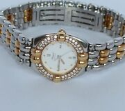 Chopard Gstaad Womenand039s Watch 0 15/16in 750/18k Gold/steel With 52 Diamonds