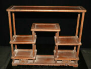 19.8 Rare Old Chinese Dynasty Palace Huanghuali Wood Carved Shelf Storage Rack
