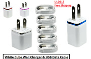 Wholesale Wall Cube For Iphone Xs Max Xr X 11 8 7 6 5 Charger And Usb Data Cable