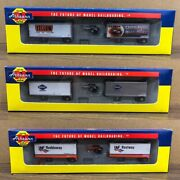 Athearn Trains 10822 10823 10824 Two 28' Wedge Trailers And Dolly Set N Scale