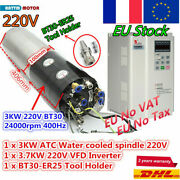 3kw 220v Automatic Tool Changer Atc Cnc Water Cooling Spindle Motor 24000rpm+vfd
