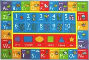 Playtime Collection Abc, Numbers And Shapes Educational Area Rug - 5'0 X 6'6