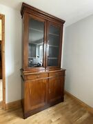 Antique Display Kitchen Book Cupboard Cabinet Estate Office Country House Style