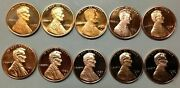 19801989 S Lincoln Penny Gem Proof Run 10 Coin Decade Set Us Mint Lot Free Ship