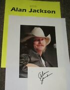 Alan Jackson Autographed Card And Photo W Photos Very Collectible