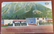 1930s Post Card North Bend Auto Court Art Deco Gas Station And Motel Washington