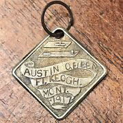 Very Rare Fort Keogh Montana 1917 Soldier Tag W/ Name Andldquoaustin Queenandrdquo - Military