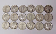 Set Of 18 World War Ii Mercury Silver Dimes 1940-pds To 1945-pds All 18 Dimes