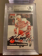 Vladimir Konstantinov Signed 1991/92 Proset Detroit Redwings Card Bas Authentic