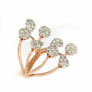 15x29 Mm Solid 18k Rose Gold Natural Pave Diamond Wrap Ring Fine Jewelry