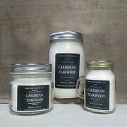 Caribbean Teakwood - Soy Candles | Mason Jar Candles | Eb