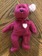 Valentina Rare Ty Beanie Baby Tag Errors 1998/99 W Hologram New And Mint. Beatiful