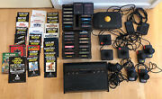 Atari 2600 W/29 Games Console And Games Tested And Working Original Game Brochures