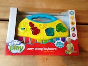 Grow Play Yellow Piano Keyboard Electronic Toy Lights Sounds Musical Brand New