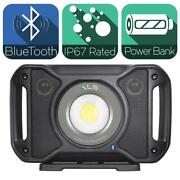 5,000 Lumens Led Rechargeable Bluetooth Audio Work Light With Power Bank Sounds