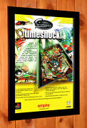 Pro Pinball Timeshock Rare Old Rare Small Promo Poster / Ad Page Framed