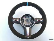 Bmw F20 F22 F30 M-tech M Sport New Alcantara Suede Leather Sw Thick And Soft Blue