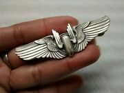 Nice Us Air Force Sterling Gunner Wings Lapel Pin 3 Inches