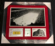 1979 Detroit Red Wings Olympia Final Game Ticket Psa 1 Framed Piece 27x23