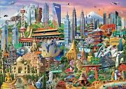 Educa Puzzle 1500 Parts The Skyscrapers Asian 17979 Landmarks, 33 1/2x23 5/8in