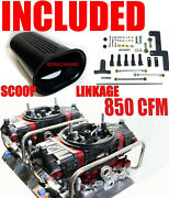 Quick Fuel Br-67332-b2 850 Cfm Black Blower Supercharger 4150 Carbs Free Cover