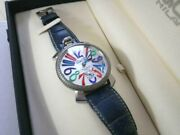 Gaga Milano 48mm Manuale Serial 300/500 World Limited Edition 500 Silver Dial