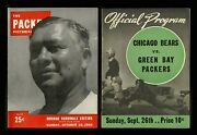 1941 To 1972 Nfl Green Bay Packers Programs Yearbooks Schedules Memorabilia 15