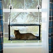 Kandh Pet Products Kitty Sill - Double Stack Ez Window Mount Gray / Black 12 X 23