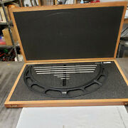 Starrett 224m 400-500mm Outside Micrometer Set With Standards In Case. Lot6