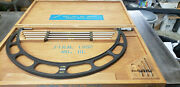 Starrett 224m 500-600mm Od Micrometer W/etchings And Blue Paint In Case. Lot6l