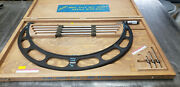 Starrett 224m 400-500mm Od Micrometer W/etchings And Blue Paint In Case. Lot7