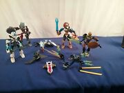 4 Lego Bionicle Figures And Extra Bits Chima Dragon S6