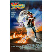 Michael J. Fox Lloyd Wilson Cast Autographed Back To The Future 27x39 Poster