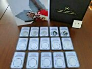 15 Vancouver Winter Olympics 25 Silver Coins Canada With 15 Coa Boxes Ngc Pf 69