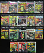 Famous Monsters Lot Karloff Lon Chaney Jr. Lugosi 17 Issues In All