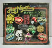 Hot Neon Magnetic Signs Pencil Top Old Gumball Vending Machine Display Card 149
