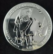 2013 Atb Mount Rushmore .999 Silver 5 Oz 25c Coin From Mint Tube. Bu.