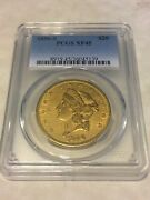 1856-s Xf45 Pcgs Liberty Double Eagle Type 1 20 Gold Coin Pq Very Nice Coin
