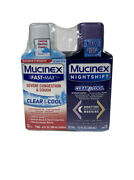 Mucinex Sinus-max Severe Congestion And Cough And Mucinex Night Shift Cold And Flu