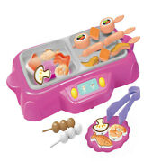 Simulation Kitchen Barbecue Grill Rotating Hoot Pot Toys Set Kids Boys Girl Play