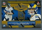 2020 Panini Plates And Patches Football Factory Sealed Hobby Box