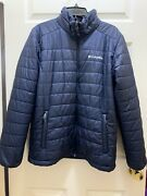 Columbia Omni Heat / Shield Hooded Blue Light Weight Puffer Jacket Menandrsquos Size M