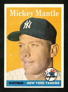 1958 Topps 150 Mickey Mantle Em Better Centered Than Most Hq Original Owner Card