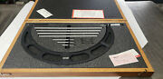 Starrett 224m 300-400mm Outside Micrometer Set With Standards In Case. Lot7
