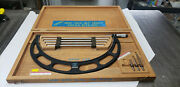 Starrett 224m 300-400mm Od Micrometer W/etchings And Blue Paint In Case. Lot3