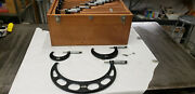 Starrett 436m 0-300mm Outside Micrometer Set W/etchings And Blue Paint. Lot3